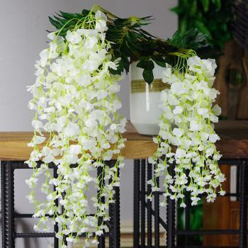 Long Artificail Silk White Wisteria Trees Vine Wedding Home Plan